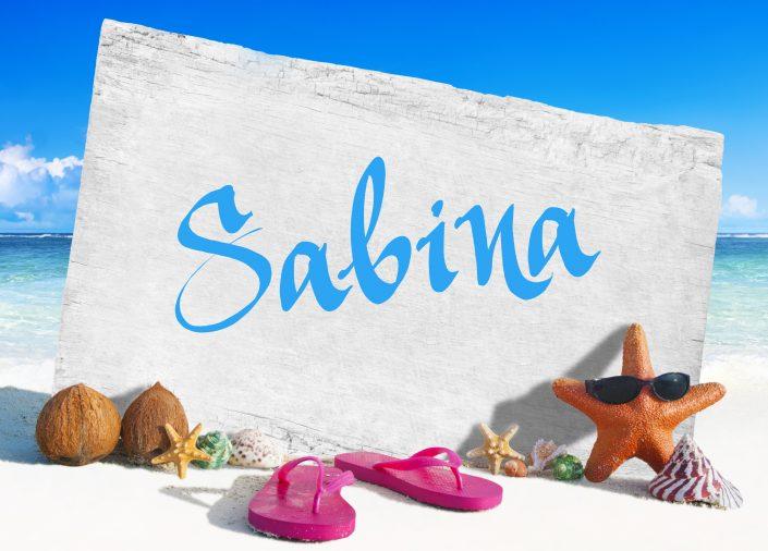 BeachCard01 Sabina