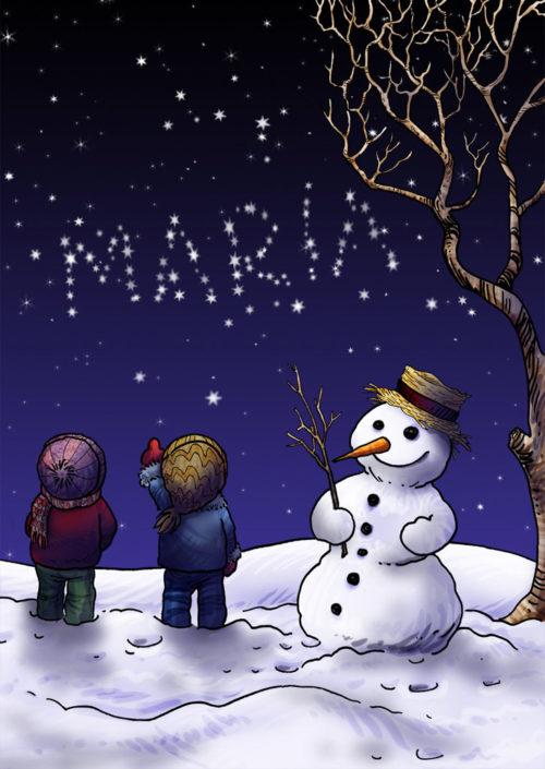 10891 SnowmanStars